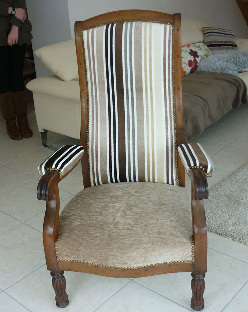 fauteuil voltaire customis. Black Bedroom Furniture Sets. Home Design Ideas
